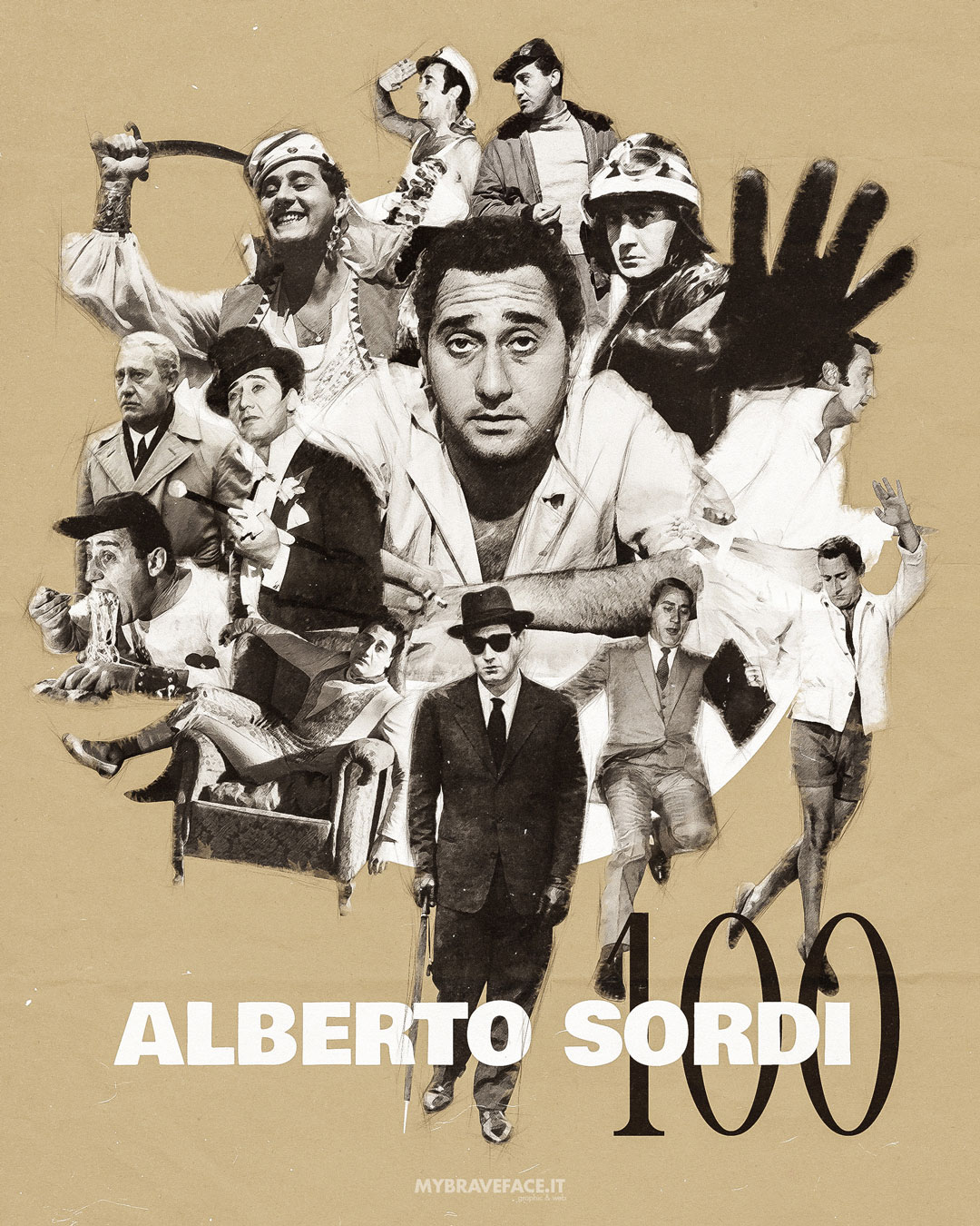 Alberto Sordi 100 - Fan Art